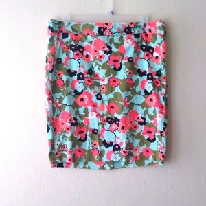 Lane Bryant floral pencil skirt Size 28